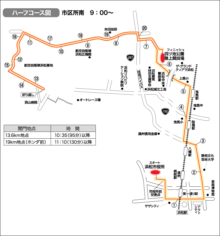浜松シティマラソン ハーフマラソン コース